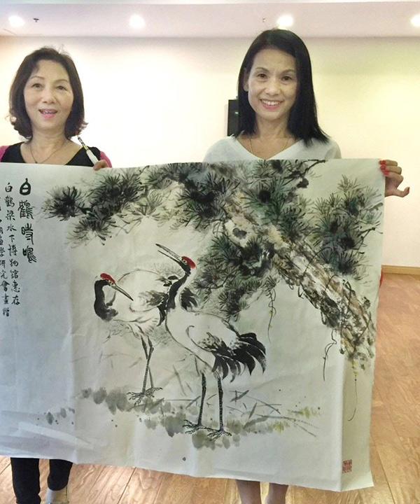 白鹤梁水下博物馆收藏国画家吴欐樱、林菲满画作