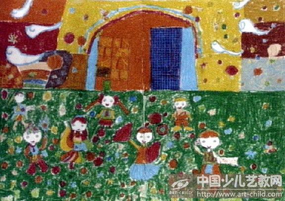 庆六一儿童画 少儿画苑来为您展现 六一儿童画 第2张