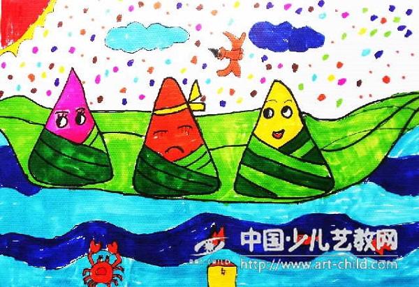 端午将至,粽香千里,端午节儿童画欣赏 端午节儿童画 第2张