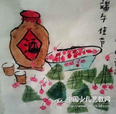 端午将至,粽香千里,端午节儿童画欣赏 端午节儿童画 第4张
