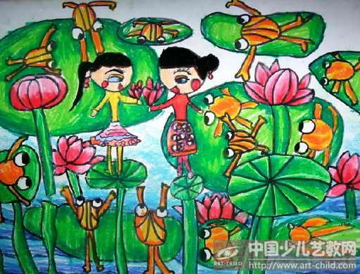 儿童画——喜爱的荷 儿童画 喜爱的荷 第1张