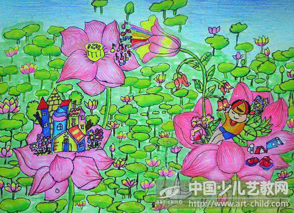 儿童画——喜爱的荷 儿童画 喜爱的荷 第2张